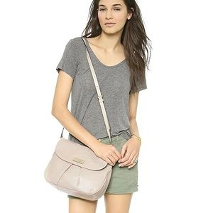 Marc Jacobs flap crossbody taupe leather purse
